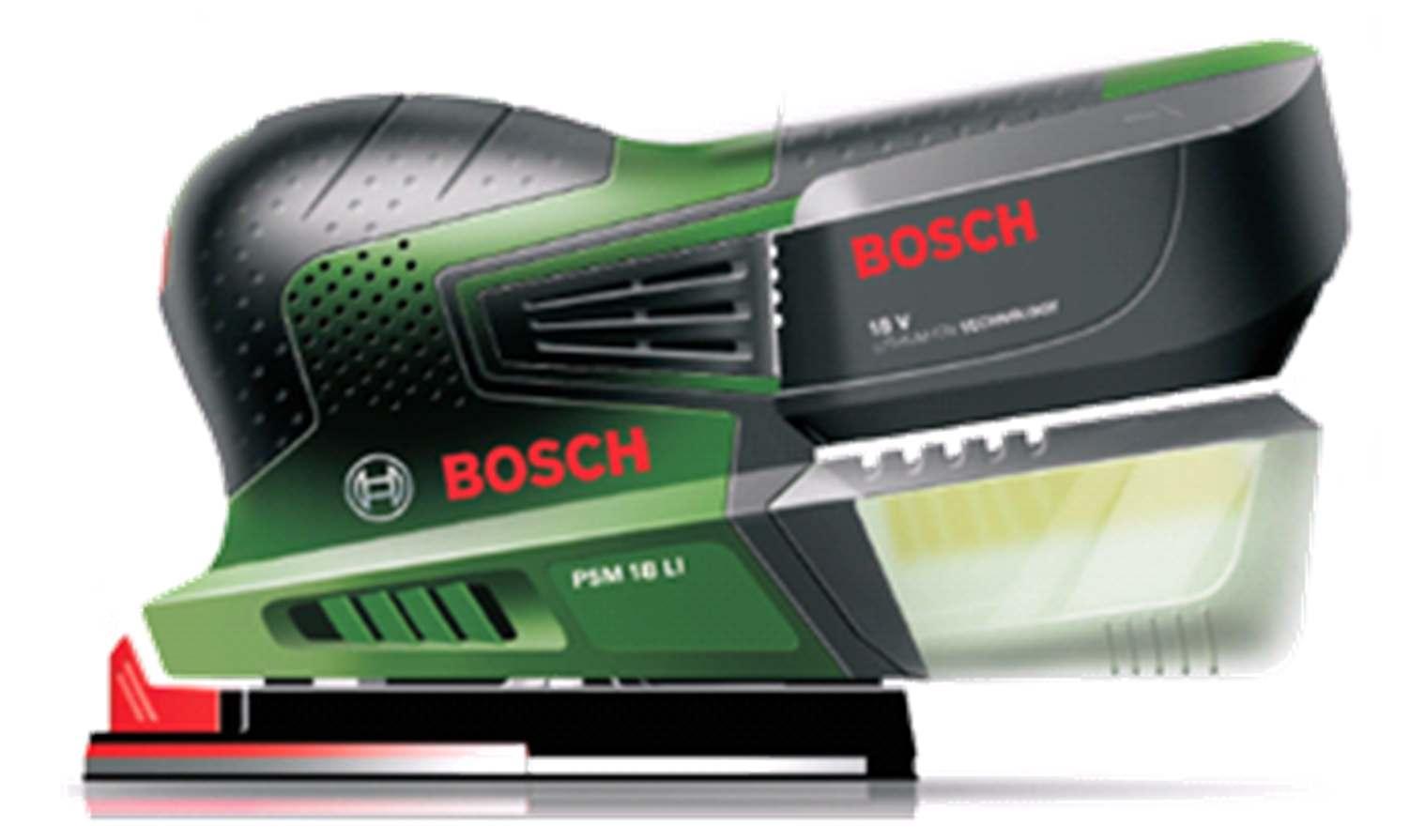 bosch batteridrevet multisliber psm 18 li u batteri og lader. Black Bedroom Furniture Sets. Home Design Ideas