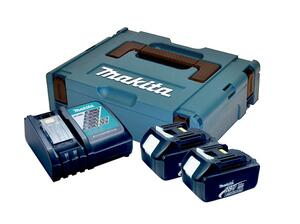 Makita BATTERIPAKKE 2XBL1830 + 1XDC18RC 196693-0 3,0 ah batterier