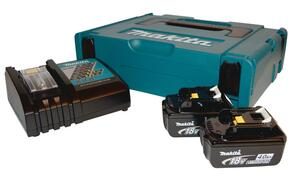 Makita BATTERIPAKKE 2XBL1840B+1XDC18RC 196866-5 4,0 ah batterier