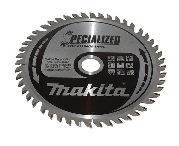 Makita SPECIALIZED HM DYKSAVKLINGE 165X20 mm, 48 tænder