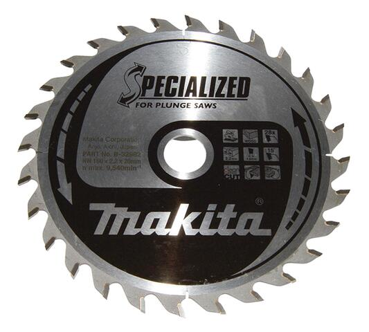 Makita SPECIALIZED HM DYKSAVKLINGE 160x20 mm, 28 tænder