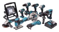 Makita KOMBO-KIT 18V LI-ION DLX1007MJ 3 x 4,0 ah batteri